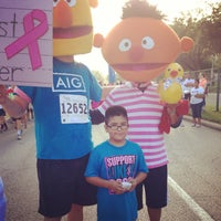Photo taken at Susan G. Komen Race For The Cure by Tabitha C. on 10/5/2013