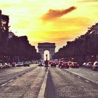 Photo taken at Avenue des Champs-Élysées by Aisha A. on 8/21/2013