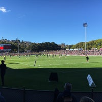 Photo taken at Brookvale Oval by Warren B. on 8/27/2016