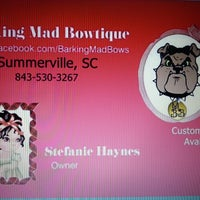 Photo taken at barking mad bowtique by Kellee S. on 11/18/2013