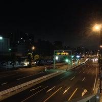 Photo taken at 大森海岸駅前歩道橋 by Klaudios P. on 9/5/2013