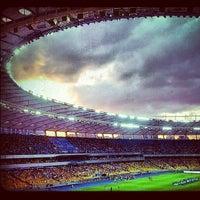 Photo taken at Olimpiyskiy Stadium by Кристина М. on 6/30/2013