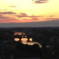 Photo taken at Piazzale Michelangelo by Volkan E. on 6/3/2013