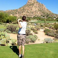 Photo taken at Desert Highlands Golf Club by Justin T. on 9/28/2012