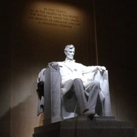 Photo taken at Lincoln Memorial by Geoffrey G. on 11/3/2013