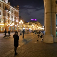 Photo taken at Район «Арбат» by Anton T. on 11/9/2017