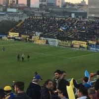 Photo taken at Estadio Don León Kolbowski (Club Atlético Atlanta) by Damian M. on 6/12/2016