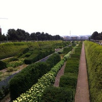 Photo taken at Thames Barrier Park by Patrick S. on 7/13/2013