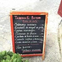 Photo taken at Taberna El Botero by Adolfo O. on 5/4/2015