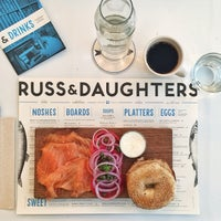 Photo taken at Russ & Daughters Café by Johngwon on 1/29/2015