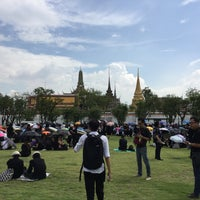 Photo taken at Sanam Luang by Earth T. on 10/14/2016