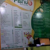 Photo taken at Pishu's  Juice Center by Zahiya K. on 8/7/2013