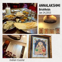 Photo taken at Annalakshimi by Joan K. on 1/24/2015