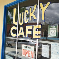Photo taken at Lucky Cafe by David G. on 4/15/2013