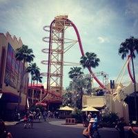 Photo taken at Hollywood Rip Ride Rockit by Daniel Z. on 5/26/2013