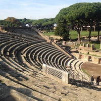 Photo taken at Teatro Ostia Antica by Cristina B. on 11/15/2015