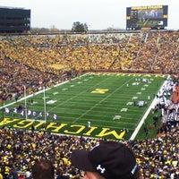 Photo taken at Michigan Stadium by Trevor K. on 11/12/2012