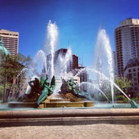 Photo taken at Swann Memorial Fountain by Alan M. on 5/12/2013
