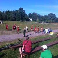 Photo taken at Рощинский стадион by Екатерина К. on 7/30/2013