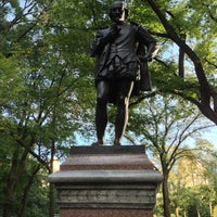 Photo taken at William Shakespeare Statue by ma_ s. on 9/25/2013