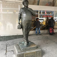 Photo taken at Ralph Kramden Statue by Scott T. on 4/1/2017