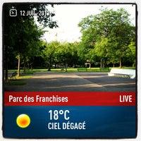 Photo taken at Parc des Franchises by Philippe K. on 7/12/2013