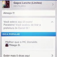 Photo taken at Gagos Lanche (Limites) by Ronaldo O. on 11/4/2012