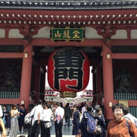 Photo taken at Kaminarimon Gate by Kin C. on 5/14/2013