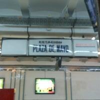 Photo taken at Estación Plaza de Mayo [Línea A] by Guido B. on 11/8/2012
