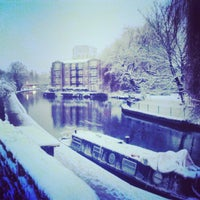 Photo taken at Old Ford Lock (Regent's Canal) by Sukh D. on 1/20/2013