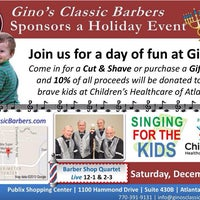 Photo taken at Gino's Classic Barber Shoppe by Melanie E. on 12/11/2013