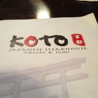 Photo taken at Koto Syracuse Japanese Steakhouse by Vermyra S. on 3/16/2013