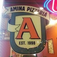 Photo taken at Amina Pizzeria by cbuku on 9/19/2012