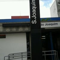 Photo taken at Estação São Joaquim (Metrô) by Marcos F. on 2/28/2013