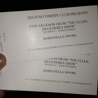 Photo taken at Helium Comedy Club by Mari M. on 3/8/2013