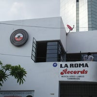 Photo taken at La Roma Records by Jackeline M. on 8/8/2013