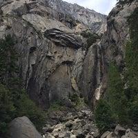 Photo taken at Lower Yosemite Falls by Fernanda U. on 10/15/2016