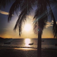 Photo taken at Playa La Galera by Sebastián G. on 1/16/2014