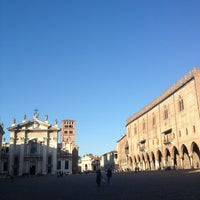 Photo taken at Piazza Sordello by MariaLaura M. on 4/24/2013