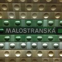 Photo taken at Malostranská (tram) by Chad B. on 10/23/2012