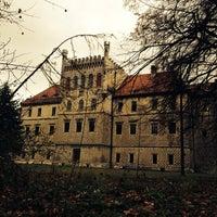 Photo taken at Zamek na Mirowie w Książu Wielkim by Timati B. on 11/9/2013