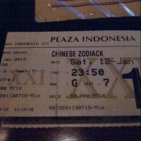 Photo taken at Plaza Indonesia XXI by Pandi T. on 1/12/2013