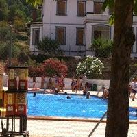 Photo taken at Piscina Municipal d'Alcoleja by Marga G. on 8/6/2013