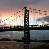Photo taken at Benjamin Franklin Bridge by Mike P. on 6/29/2013