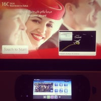 Photo taken at Emirates (EK) Flight 020 (Manchester - DXB) by Helen K. on 11/6/2013