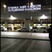 Photo taken at Istanbul Sabiha Gökçen International Airport (SAW) by Büşra T. on 10/26/2013