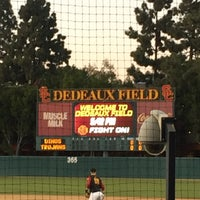 Photo taken at Dedeaux Field by Tai L. on 2/25/2016