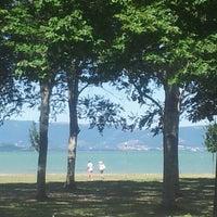 Photo taken at Lago Trasimeno by Cristina S. on 8/1/2013