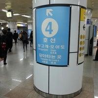 Photo taken at Chongshin Univ.(Isu) Stn. by 야옹 이. on 11/3/2012