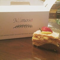 Photo taken at Mimosa Patisserie by weenee c. on 6/26/2015